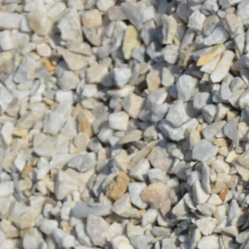 Крихта з природного каменю Біла Мармурова - фракція 5-10 мм.