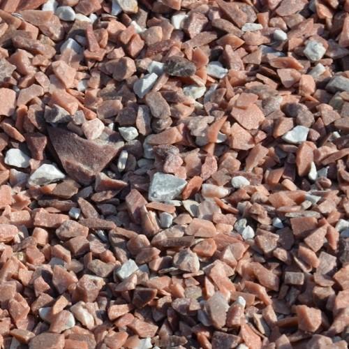 Крихта з природного каменю Світло-червона Мармурова - фракція 5-10 мм.