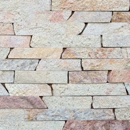 Соломка з природного каменю Кварцит Персик